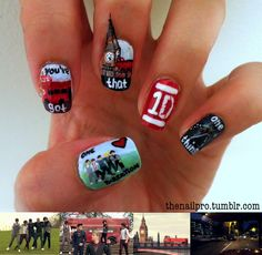One Direction nail art One Direction Nails, I Love One Direction, Nail Designs Tumblr, Cool Nail Designs, Cute Nails, Pretty Nails, Hair And Nails, My Nails, Cool Stuff