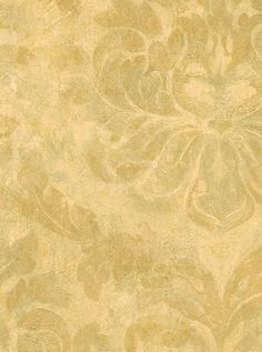 $27 Antiqued GOLD TAN LEAF DAMASK Leaves Aged FAUX Victorian Wallpaper Double Rolls