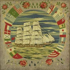 """Sailor's """"Wooly,"""" Ship Picture"""