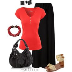 A fashion look from April 2015 featuring henley shirt, long skirts y leather sandals. Browse and shop related looks.
