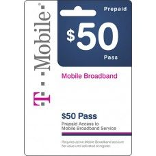 $50 Tmobile Prepaid Wireless Top Up AirTime Card USA Service Code WorldWide 50$