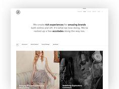BASIC Redesign Homepage Exploration by BASIC #Design Popular #Dribbble #shots