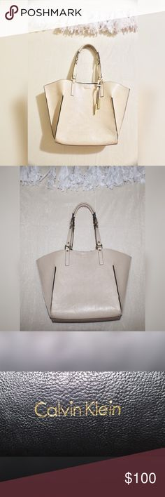 Calvin Klein Purse Reversible Purse! Black and Pinkish Nude. Lightly Used. Calvin Klein Bags Shoulder Bags
