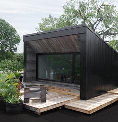 Cabin Design, Small House Design, Tiny House Cabin, Prefab Homes, Little Houses, Cabana, Architecture Details, Exterior Design, House Plans