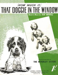 how much is that doggie in the window sheet music - Google Search
