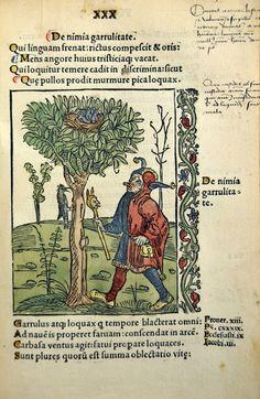Malades mentaux (folie) . 15e siècle Auteur de l'ouvrage : BRANDT, Sebastian / BRANT, Sébastien / BRAND, Sébastien Ouvrage : Stultifera navi...