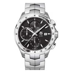 Tag Heuer Link Calibre 16 Chronograph Watch ($4,450) ❤ liked on Polyvore featuring men's fashion, men's jewelry and men's watches