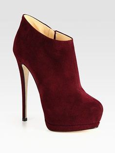 Perfect for a Fall night! Giuseppe Zanotti Suede Platform Ankle Boots