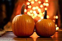Pumpkins and Twinkle Lights.