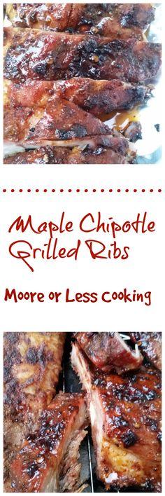 Msg 4 21+ #HogWildThrowdown #ad @Smithfieldfoods @Walmart Maple Chipotle Grilled Ribs