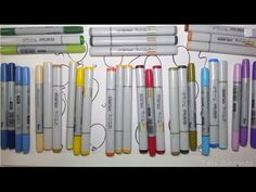 Copic markers for beginners - blending combinations {✎Tutorial} - YouTube