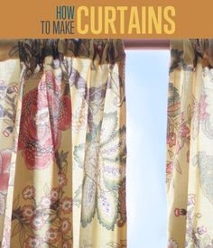 Curtain Ideas! How To Make Curtains | Easy Sewing Tutorial for Creative DIY Home Decor http://diyready.com/how-to-make-curtains-diy-curtain-ideas/