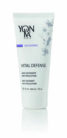 Yon-Ka Vital Defense 50ml £44.00  Specially formulated to fight the damaging environmental factors that cause oxidative stress - such as pollution, cigarette smoke and exposure to UV rays and climate variations - the intensively hydrating Vital Defense cream contains high-performance plant extracts that help the skin preserve its youthfulness.