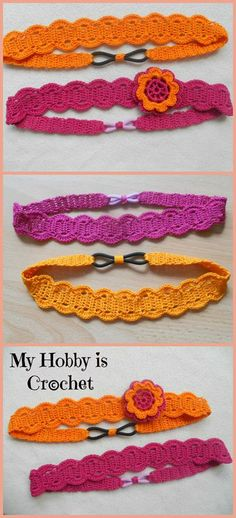 Crochet Hair Rubber Band : Easy Video Crochet: Easy Ponytail Holder. This is cute and was easy to ...