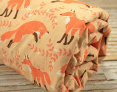 Minky Baby Blanket - Socks the Fox in Coral and your Choice of Minky Dot - Personalization Options Available
