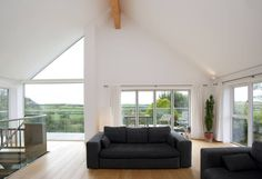 Contemporary Home, Bude, Cornwall : Modern living room by The Bazeley Partnership