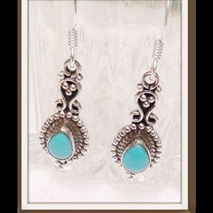 Turquoise, Sonoran Blue Earrings