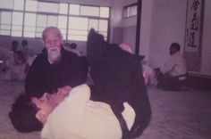 """ O-Sensei would come over to where everybody was talking. He'd slam on a technique, say ""well…I guess it works like this"", and then just walk out. (laughing) "" - Masatake Fujita with Aikido Founder Morihei Ueshiba. More from Fujita Sensei in this two part interview on the Aikido Sangenkai​ blog:  Part 1 - http://www.aikidosangenkai.org/blog/interview-aikido-shihan-masatake-fujita-part-1/ Part 2 - http://www.aikidosangenkai.org/blog/interview-aikido-shihan-masatake-fujita-part-2/"