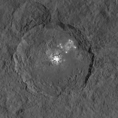 Occator crater on Ceres (taken by NASA's Dawn spacecraft). Credit: NASA/JPL-Caltech/UCLA/MPS/DLR/IDA
