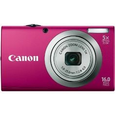 Canon PowerShot A2300 16.0 MP Digital Camera with 5x Digital Image Stabilized Zoom 28mm Wide-Angle Lens with 720p HD Video Recording