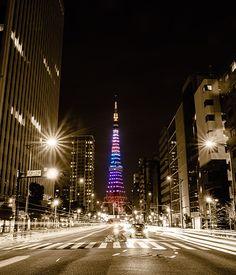 東京タワー夜景。
