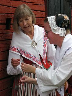 Skedevi - Östergötland Folk Costume, Costumes, Carl Larsson, White Apron, Kerchief, Daily Dress, Swedish Design, Historical Clothing, Finland