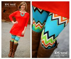 """The """"Kelsey"""" Leggings.  S, M, L.  $19.99.  Available in Blue or Pink.   