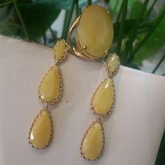 Quartzo amarelo....lindo tom p/ o verão..... TÂNIA SEMI-JÓIAS.... Enviamos p/ td Brasil.......