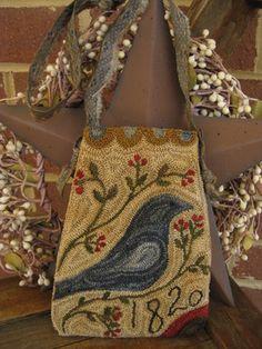 Needlepunch pouch by Stacy Nash Primitives