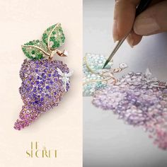 Showcasing elegant gradations of sapphires, the Edna clip hides a Fairy, an hommage to the art of secrecy, one of the Maison's best-known signatures. Gems Jewelry, High Jewelry, Jewelry Art, Jewellery Sketches, Jewelry Sketch, Jewelry Design Drawing, Jewelry Illustration, Rare Gems, Van Cleef Arpels