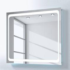mooved EEK A+, Spiegel Bettna II (inkl. Beleuchtung) - Werbung - Spiegel Bettna II (inkl. Beleuchtung) der Marke mooved, Maße: Breite: 85 cm Höhe: 70 cm Tiefe: 3 cm, Farbe: Grau, Material: Aluminium, lackiert,  #Bad #Badezimmer #Badezimmerschrank #Spiegelschrank #Schrank #Wohnen #Möbel #einrichtung
