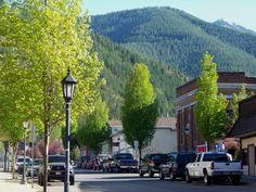 Scenic historic uptown Kellogg, Idaho. Photo by Estar Holmes of South Lake Promotions, Inc.