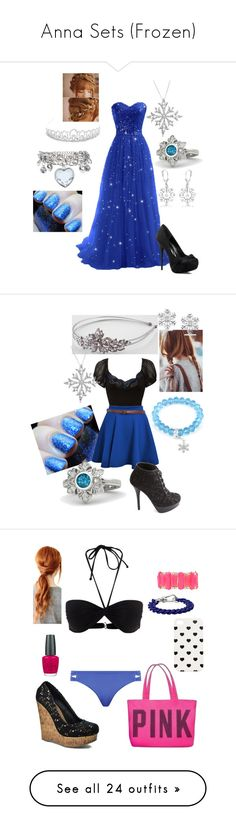"""Anna Sets (Frozen)"" by briony-jae ❤ liked on Polyvore featuring disney, frozen, fillers, people, pictures, backgrounds, Jon Richard, Allurez, Gemvara and Charlotte Russe"