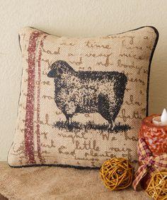 Farm Life Sheep Throw Pillow #zulily #zulilyfinds