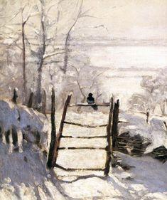 birdsong217: Claude Monet (1840-1926) The Magpie (detail),...