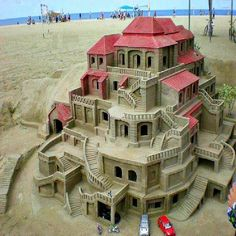 sand castle ... somebody worked hard on this one.