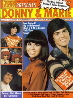 Donny and Marie on the cover of Tiger Beat