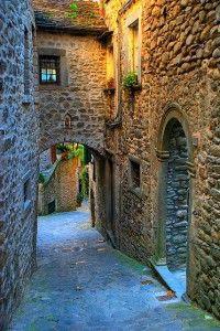 Medieval Street, Pontremoli, Tuscany, Italy
