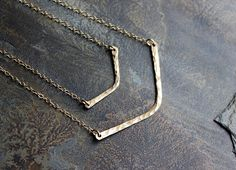 Chevron Necklace ~ Minimalist Necklace, Gold Bar Necklace, Dainty Delicate Necklace by SketchLines on Etsy https://www.etsy.com/listing/218907770/chevron-necklace-minimalist-necklace
