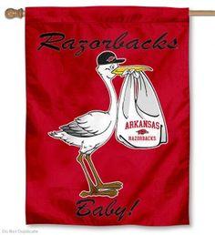 Arkansas Razorbacks New Baby Banner