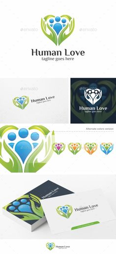 Human Love / Heart Logo Template — Vector EPS #social #charity • Available here → https://graphicriver.net/item/human-love-heart-logo-template/16382188?ref=pxcr