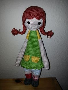 doll mod made by Heike von F. / based on a lalylala crochet pattern