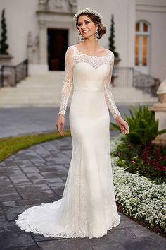 Wedding gown by Stella York.