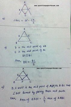 TRIANGLE PROPERTIES HELPFUL IN SSC EXAMS - QUESTION PAPER Mental Math Tricks, Maths Tricks, Geometry Questions, Math Formula Chart, Triangle Math, Maths Exam, Maths Algebra, Math Quotes, Maths Solutions