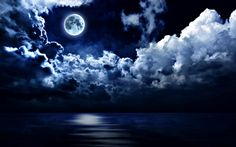 free night cloud wallpaper hd
