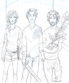 """""""Grover cradled his laurel sapling in his hands. 'Well...sure good to be together again. Arguing. Almost dying. Abject terror. Oh, look. It's our floor.'"""" --The Last Olympian, chapter 17   WIP by *burdge-bug on deviantART"""