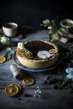 Tart al cioccolato pere e ricotta - Chocolate pear ricotta tart - Frames of sugar-Fotogrammi di zucchero