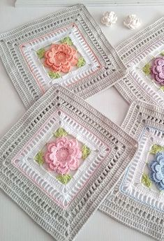 Crochet Baby Girl Blanket Pink and White Rose Flowers Perfect For Baby Shower or Newborn Coming Home Gift Crochet Daisy, Crochet Lace Edging, Crochet Motifs, Crochet Stitches Patterns, Crochet Designs, Crochet Flowers, Crochet Crafts, Crochet Yarn, Crochet Hooks
