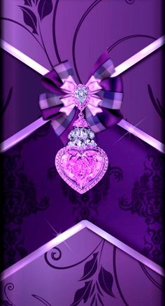By Artist Unknown. Pink And Gold Wallpaper, Gold Wallpaper Phone, Bling Wallpaper, Heart Wallpaper, Butterfly Wallpaper, Cellphone Wallpaper, Luxury Wallpaper, Purple Backgrounds, Wallpaper Backgrounds