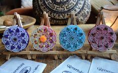Crochet Earrings, Mandala, Jewelry, Jewlery, Jewerly, Schmuck, Jewels, Jewelery, Fine Jewelry